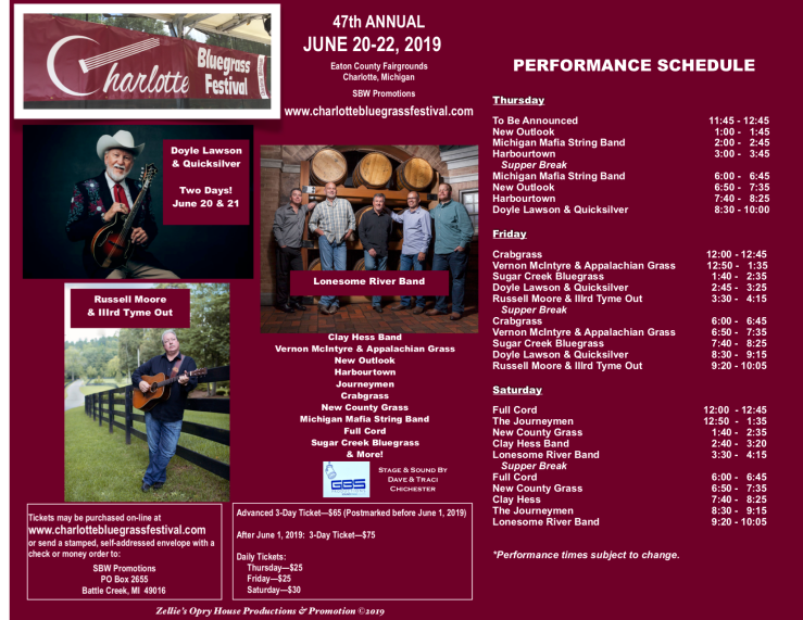 Flyer & Performance Schedule PNG